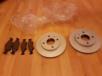 ford front break discs and 4 pads will fit other models see description