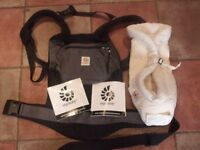 Ergobaby carrier and infant insert.