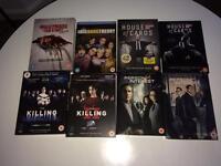 8 x DVD Boxset - Big Bang Theory, House of Cards and more