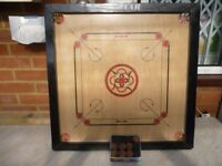 lovely quality star medium size carrom board/playing coins (60 cms by 60 cms) excellent condition