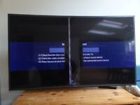 Broken Samsung 55 inch JS8500 8 Series Curved SUHD 4K Nano Crystal Smart 3D TV - For Spares Only