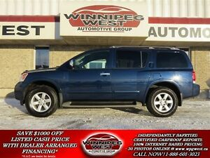 2010 Nissan Armada NAVY BLUE SE EDITION 4X4, 8 PASSENGER, LOADED