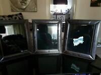3 nice leather frames