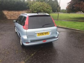 PEUGEOT 206 1.4 DEISEL ESTATE GOOD CONDITION CAR FOR SALE £999