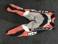 """KTM kids Motorcross Bottoms in size 22"""" waist"""