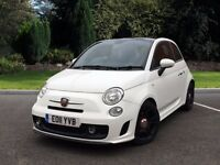 Fiat 500 Abarth - 1.4L Manual, White, Black Alloys, Full Leather, Full Service History