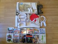 Wii with Wii fit board,games and accessories
