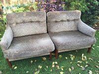 Original retro 1970s cintique sofa