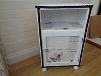 Bedside cabinet Llyod Loom restyled