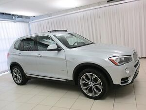 2016 BMW X3 28i x-DRIVE AWD w/ NAV, LEATHER, PANO MOONROOF & H