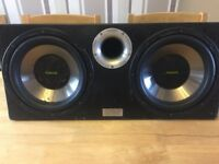 Fusion Twin 12 inch Subwoofers