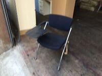 Lecture chair with fold away desk