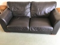 Next brown leather sofa - Free