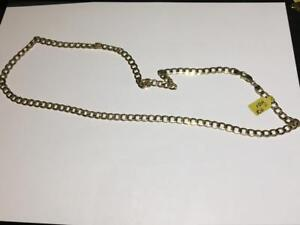 10K YELLOW GOLD CURB LINK CHAIN 15.6GRAMS