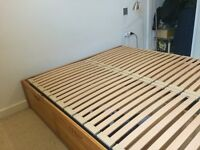 Double bed frame with 6 drawers