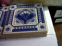 9 x HEREFORD Tiles - BLUE