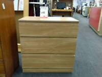 Chest of 3 drawers in light wood - British Heart Foundation sco39426