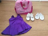 Ballet dance unicorn bundle, tap shoes size 7