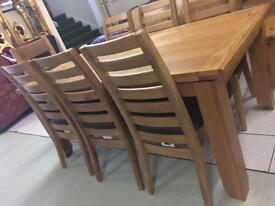 Solid oak dining sets reduced to clear ne w