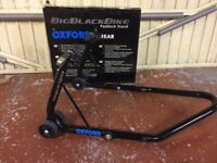 Oxford Big Black Bike Rear Paddock Stand, as new, only used a few times