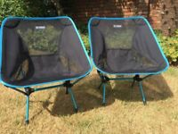Camping Chairs by Helinox, strong & super lightweight, chair weighs 850g