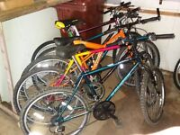 ladies and gents mountain bikes at car boot prices. come and test drive one