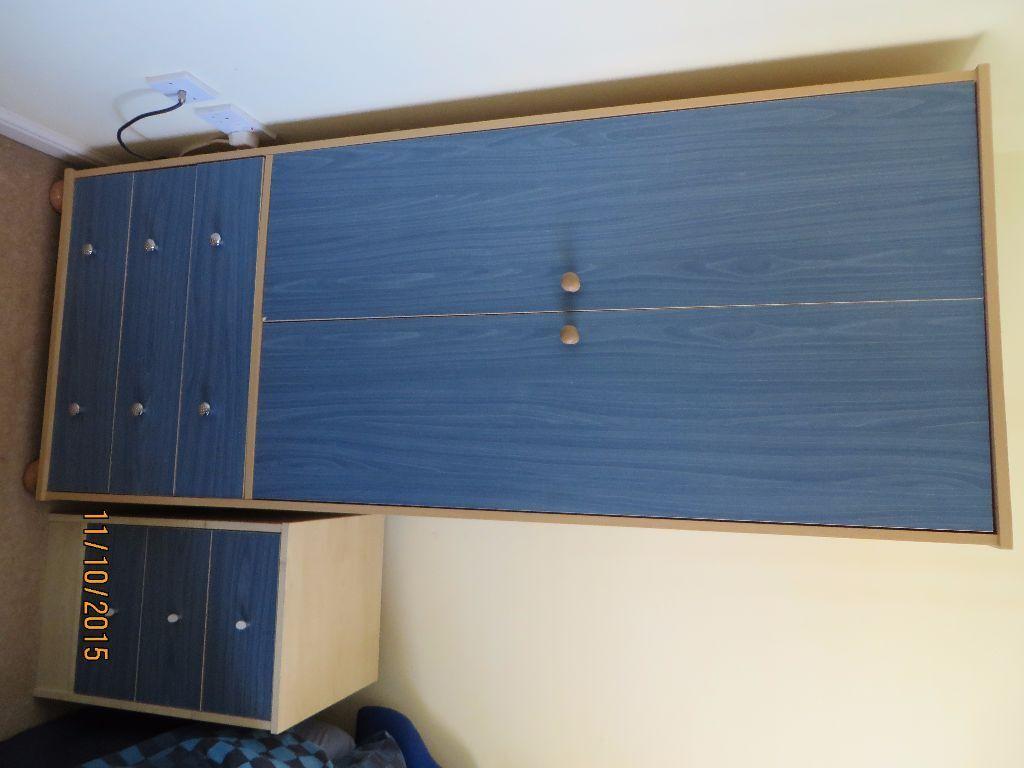 Malibu Bedroom Furniture Bedroom Furniture Wardrobe Bedside Table And Desk Blue Argos