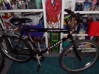 black man's mountain bicycle
