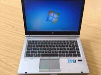 HP Elitebook 8460p laptop 8gb ram 500gb Intel 2.7ghz x 4 Core i7 - 2nd gen CPU & ATI graphics