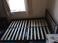 Double metal bed frame 4ft 6 inches