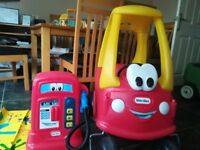 Little tikes coupe car and petrol pump