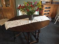 Gorgeous Dark Wood Dining Table