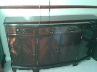 Large reproduction mahogany sideboard, very good condition.