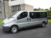 vauxhall vivaro minibus lwb 08 reg 2.0cdti