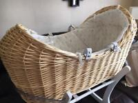 Mothercare Peter Rabbit special anniversaries edition Moses basket/snug bnwt