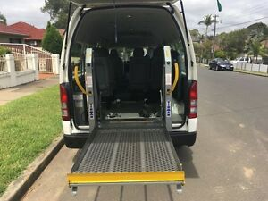 Wheel Chair Lifter Toyota Hiace Commuter LWB 2007 Automatic, 1 Ow Lidcombe Auburn Area Preview