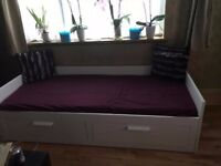 Day-bed w 2 drawers/2 mattresses BRIMNES