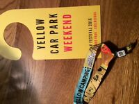 V festival weekend wristband yellow camping Hylands park Chelmsford