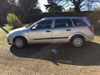 2007 VAUXHALL ASTRA DIESEL CLUB ESTATE CAR, NEW CAMBELT. 1248CC 55 MPG, LONG MOT CHEAP TO TAX.