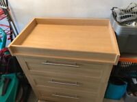 Mamas & Papas Bady Changing Table/draws - Practically Brand New - Collection Only Hyde