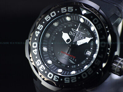 New Invicta Men's 52mm Triple Black COMBAT SEA MONSTER NH35 Automatic SS Watch