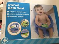 Swivel bath seat.