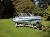 Glastron 5m (16,5 feet) ski boat with 140HP Yamaha outboard and ski pole