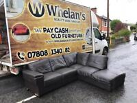 Brown leather corner group sofa from DFS £299