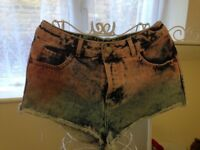 Topshop moto denim shorts size small/medium