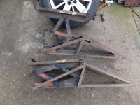 wheel ramps with built in jacks to get your car up to 16 inch off the ground