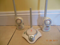 Fisher Price BABY MONITOR with 2 RECEIVERS