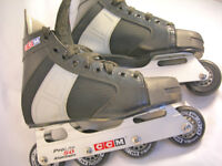 CCM RH100 Pro Lite 50 Inline Roller Blades 72mm Wheels Size UK 8.5 VGC (WH_2832)