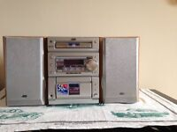 jvc radio/cd/tape player with 2 speakers model number CAUXP55
