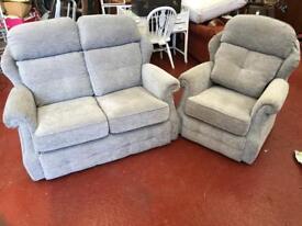 G plan Sofa & Armchair